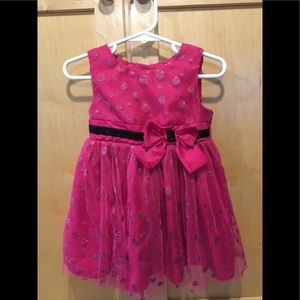 Bright pink George dress